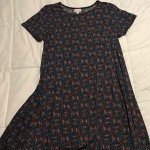 LulaRoe Carly geometric pattern dress